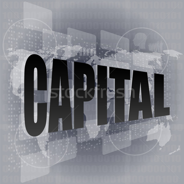 Interface woord achtergrond financieren goud Stockfoto © fotoscool