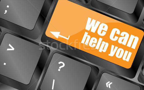 Konzerv segítség szó számítógép billentyűzet kulcs üzlet Stock fotó © fotoscool