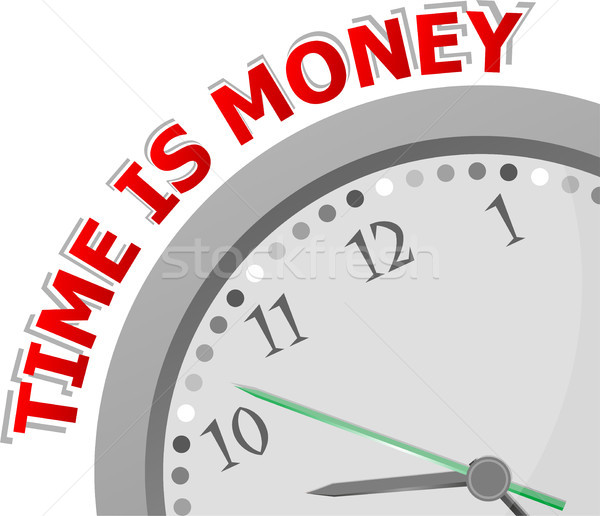 Время-деньги изолированный часы деньги время икона Сток-фото © fotoscool