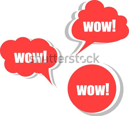 Wow Set Aufkleber Etiketten Tags Business Stock foto © fotoscool