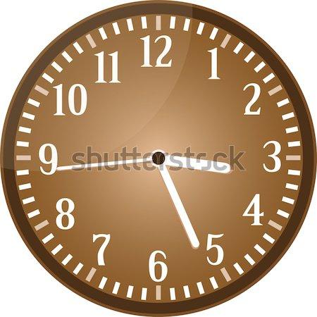 Plata pared reloj negro cara vector Foto stock © fotoscool