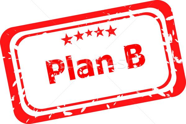 Grunge kelime plan b iş imzalamak Stok fotoğraf © fotoscool