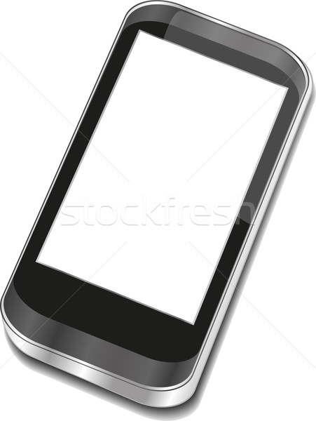 Abstract touchscreen smartphone - Iphon smartphone 3d Stock photo © fotoscool