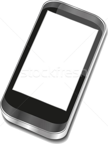 Soyut dokunmatik ekran 3D bilgisayar web Stok fotoğraf © fotoscool