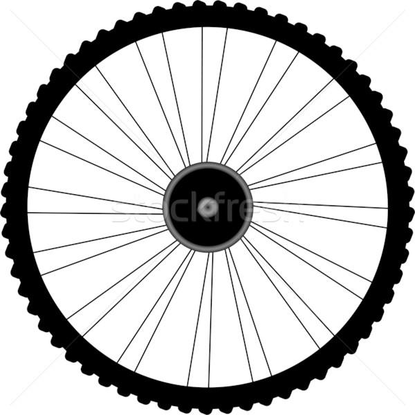 Bicicletta ruota sport fitness metal web Foto d'archivio © fotoscool