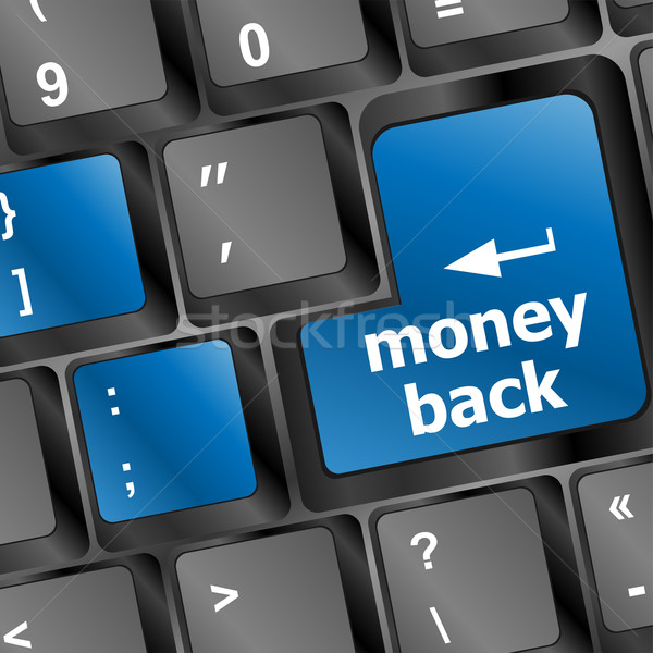 Keyboard with Money back text on button Stock photo © fotoscool