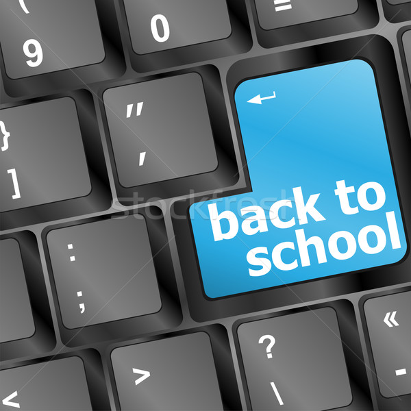 Back to school key on computer Stock photo © fotoscool