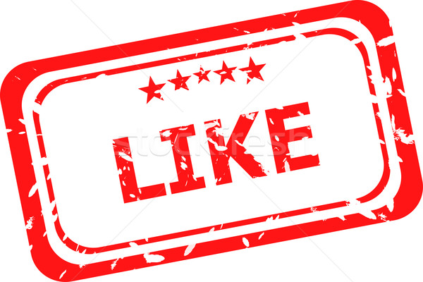 like on red rubber stamp over a white background Stock photo © fotoscool