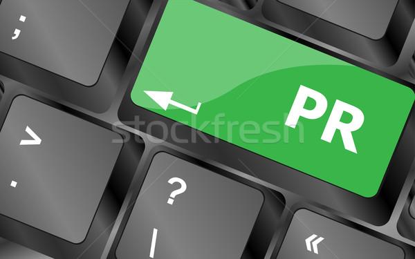 Marketing palavra pr negócio computador Foto stock © fotoscool