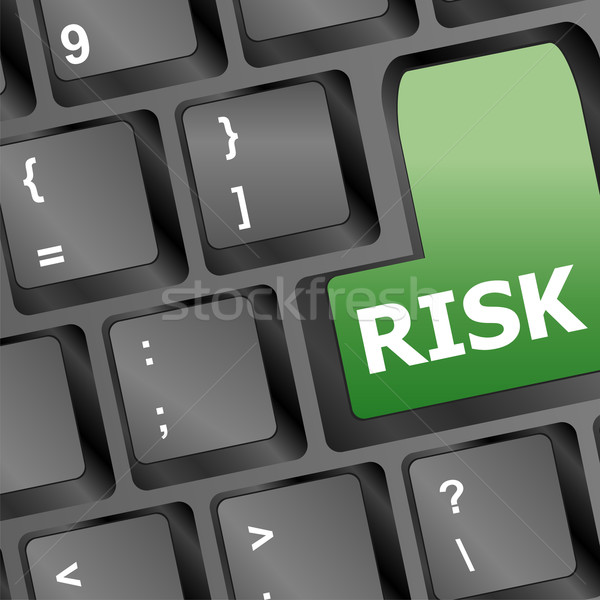 risk management key showing business insurance concept Stock photo © fotoscool