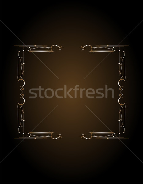 Luxury golden frame pattern Stock photo © fotoscool