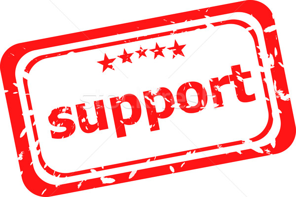 support on red rubber stamp over a white background Stock photo © fotoscool