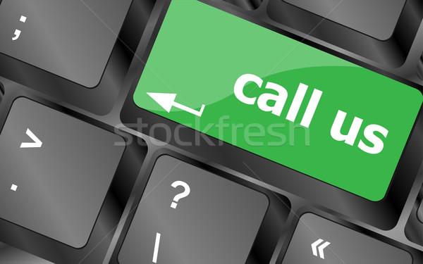 Billentyűzet kulcsok kapcsolatfelvétel üzlet világ háttér Stock fotó © fotoscool