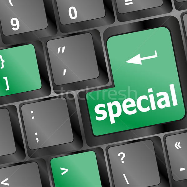 special button on laptop keyboard Stock photo © fotoscool
