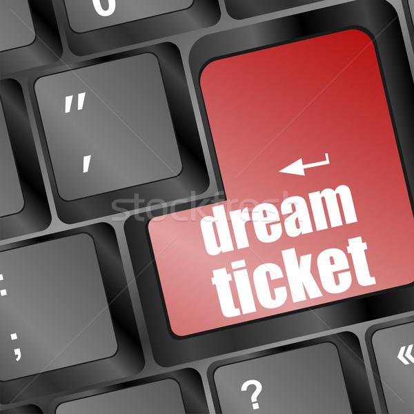 ストックフォト: 夢 · チケット · ボタン · アイデア · キーボード
