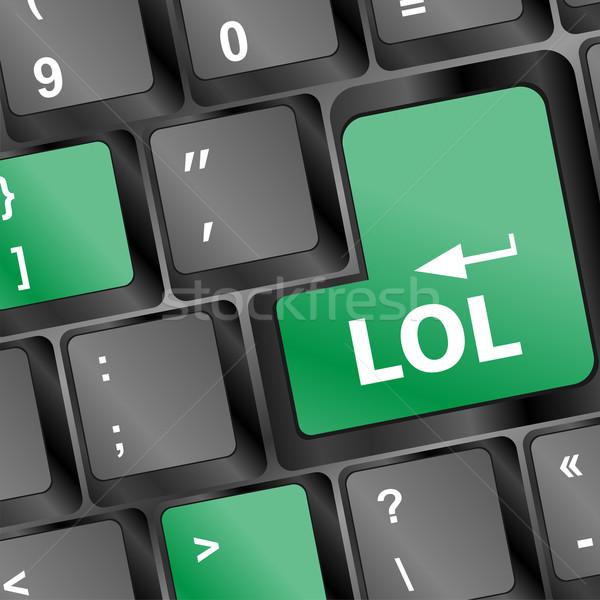 keys saying lol on black keyboard Stock photo © fotoscool