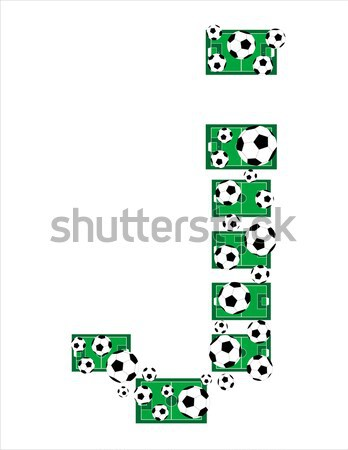 Alfabet piłka nożna litery piłka nożna pola Zdjęcia stock © fotoscool