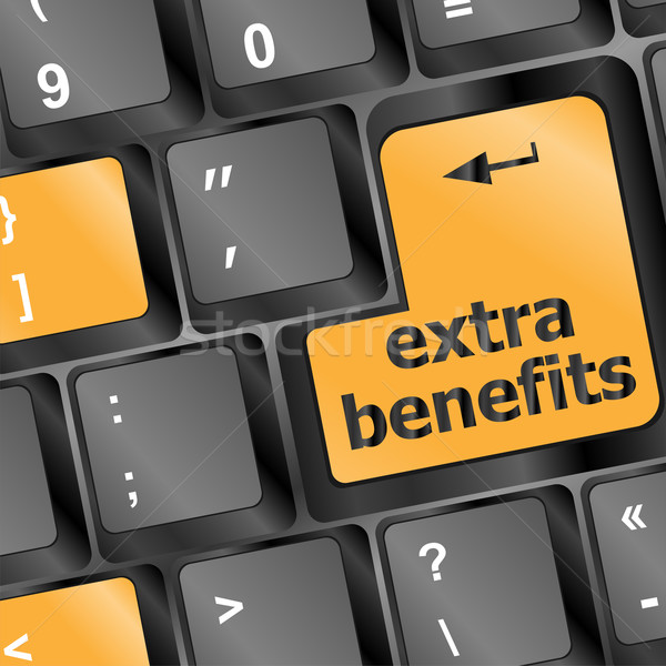 extra benefits button on keyboard - business concept Stock photo © fotoscool