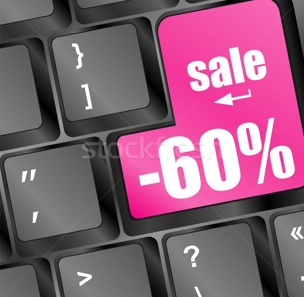 Vásár kulcs hely belépés számítógép billentyűzet internet Stock fotó © fotoscool