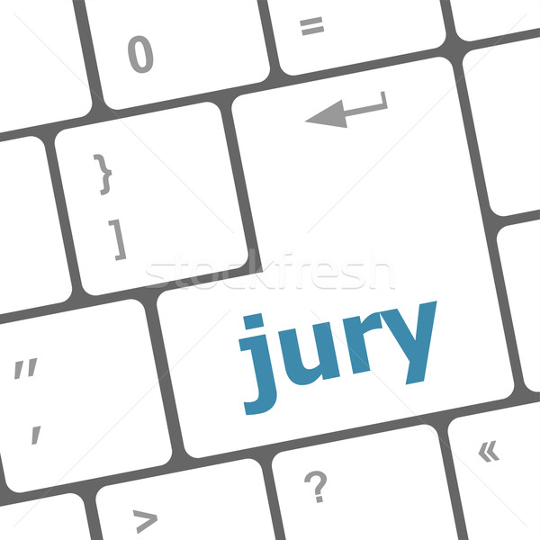 jury word on computer keyboard pc key Stock photo © fotoscool