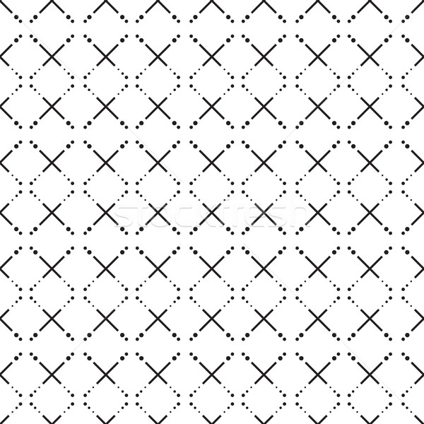 seamless pattern. Modern stylish texture. Repeating geometric tiles with dotted rhombus Stock photo © fotoscool