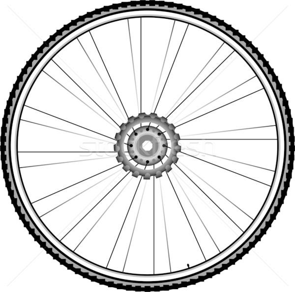 Bisiklet tekerlek yalıtılmış beyaz dağ bisiklet Stok fotoğraf © fotoscool