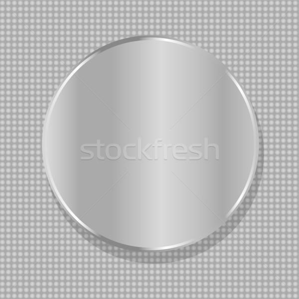 Vektor kör fém tányér űr szöveg Stock fotó © fotoscool