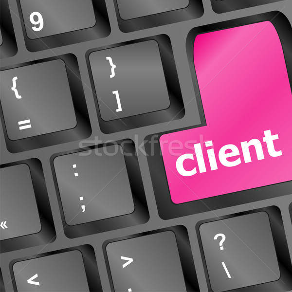 Client key in place of enter key - business concept Stock photo © fotoscool