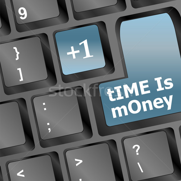 Time is money keys showing hours, business concept Stock photo © fotoscool