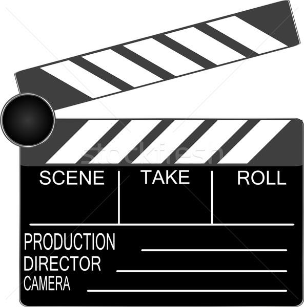 Boord geïsoleerd witte vector industrie scherm Stockfoto © fotoscool