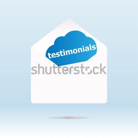 Biztonság első kék felhő papír posta Stock fotó © fotoscool