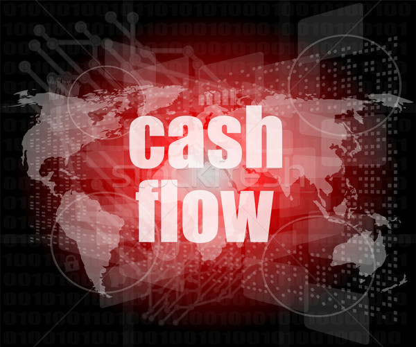 business words cash flow on digital screen showing financial success Stock photo © fotoscool