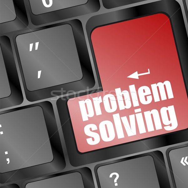 problem solving button on laptop keyboard Stock photo © fotoscool