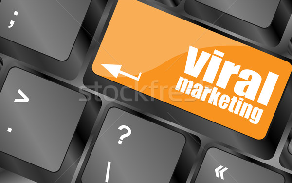 viral marketing word on computer keyboard key, raster Stock photo © fotoscool