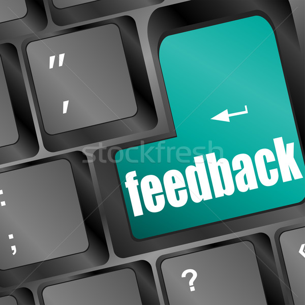 Feedback computer key showing opinion and surveys Stock photo © fotoscool