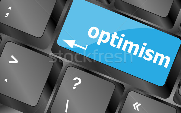 optimism button on the keyboard close-up Stock photo © fotoscool