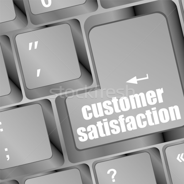 customer satisfaction key word on computer keyboard Stock photo © fotoscool