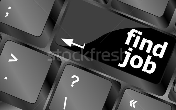 Searching for job on the internet. Jobs button on computer keyboard Stock photo © fotoscool