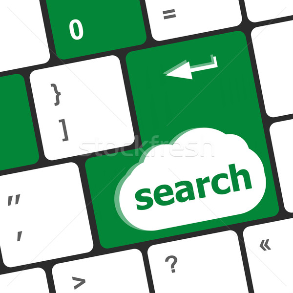 Computer keyboard key with search button Stock photo © fotoscool