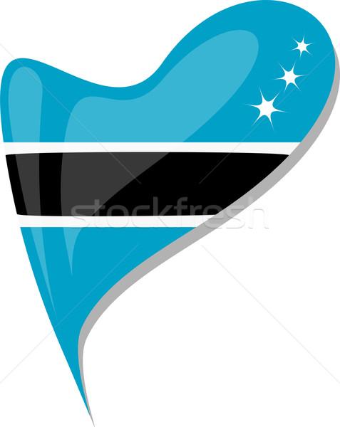 Botswana corazón icono bandera vector arte Foto stock © fotoscool