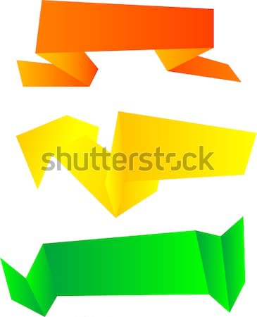 Origami symbolic set isolated on white. vector Stock photo © fotoscool
