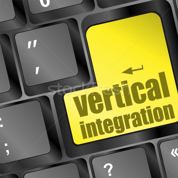 Bilgisayar klavye dikey bütünleşme sözler bilgisayar ofis Stok fotoğraf © fotoscool