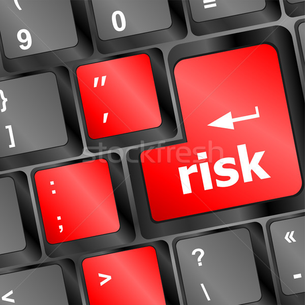 Red risk button on the keyboard Stock photo © fotoscool