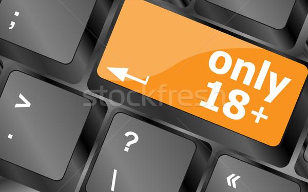 18 プラス ボタン キーボード ソフト フォーカス ストックフォト © fotoscool