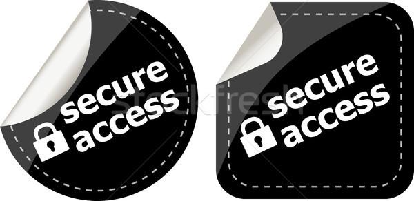 Sicuro accesso lock nero set Foto d'archivio © fotoscool