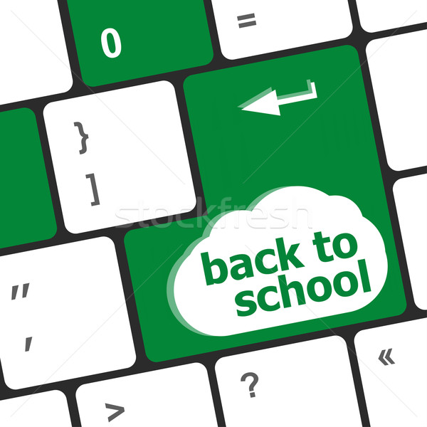Back to school key on computer keyboard Stock photo © fotoscool