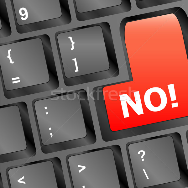 No - text on a button keyboard Stock photo © fotoscool