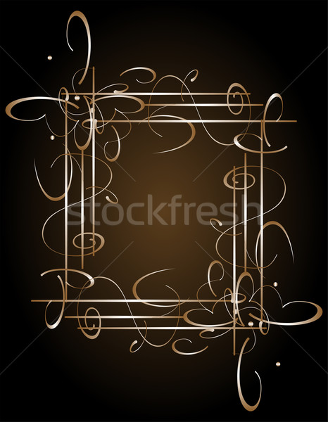 Invitation cards in an vintage style with golden luxury symbol Stock photo © fotoscool
