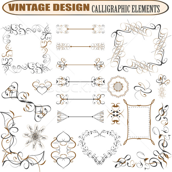 decorative ornate design elements calligraphic page decorations Stock photo © fotoscool