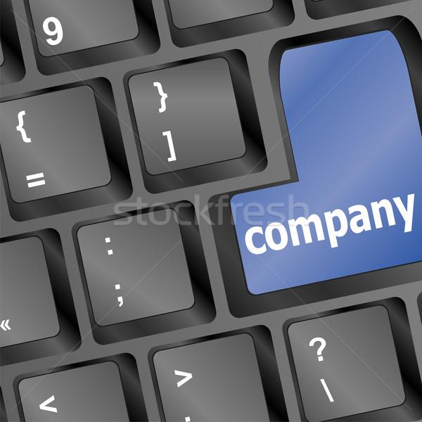 Toetsenbord knoppen bedrijf sleutel business huis Stockfoto © fotoscool